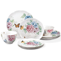 Lenox 12 Piece Butterfly Meadow Hydrangea Set, White