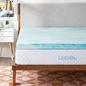 """Linenspa 3"""" Gel Swirl Memory Foam Mattress Topper from $69.99"""