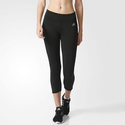 adidas Climalite Mid-Rise Three-Quarter Tights Women's Black