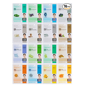 Dermal Korea Collagen Essence Full Face Facial Mask Sheet 16pc