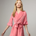 Juicy Couture Black Label Women's Ruffle Robe, Fuchsia Pink, L/XL
