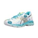 ASICS Women's Gel-Kayano 23 Running Shoe - White/Silver/Aquarium