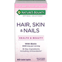 Nature's Bounty Optimal Solutions Hair, Skin & Nails Formula, 60 Tablets