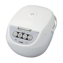 Tiger 10-Cup Micom Rice Cooker with Food Steamer & Slow Cooker, White