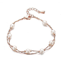 SHINCO Pearls Beads 18k Rose Gold Plated Two Layer Bracelets