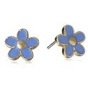 Marc Jacobs Daisy Conch Blue Stud Earrings