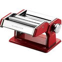 Ovente Vintage Stainless Steel Pasta Maker, 150mm, Metallic Red (PA515R)