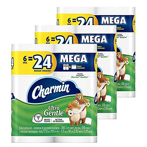 Charmin Sensitive Toilet Paper Mega Roll 18 Count