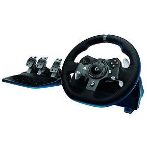 Logitech G920 Dual-motor Racing Wheel with Responsive Pedals