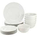 AmazonBasics 白陶瓷餐具18件套