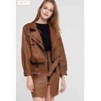 Dido Leather Jacket Skirt Set