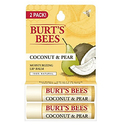 Burt's Bees 100% Natural Moisturizing Lip Balm, Coconut & Pear with Beeswax & Fruit Extracts - 2 Tubes