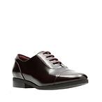 紫红色牛皮牛津鞋