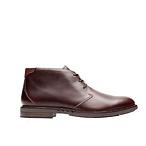 紫红色牛皮踝靴