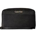 Calvin Klein 女士十字纹牛皮钱包