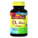 Nature Made Vitamin D3 1000 IU Softgels 300ct