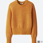 棉质圆领短款毛衣