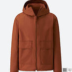 棉质拉链派克大衣