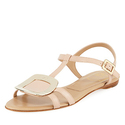 Roger Vivier Chips Flat Leather Sandal