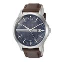 阿玛尼AX2133真皮表带男士腕表