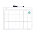 U Brands Contempo Magnetic Monthly Calendar Dry Erase Board
