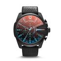 Diesel Men's DZ4323 Mega Chief Black Leather Watch