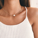 Dogeared Rose Gold Pearls of Happiness