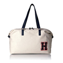 Tommy Hilfiger Women's Weekender Bag Canvas, Natural