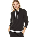 Calvin Klein Women's Modern Cotton Lounge Drawstring Hoodie, Black, M