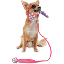 Hipat 丝绒遛狗绳-粉色
