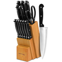 Utopia Kitchen Knife Set with Wooden Block 13 Piece
