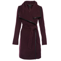 Coats Direct:Extra 30% OFF Faux Leather Trimmed Wrap Coat