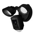 Ring Floodlight Camera Motion-Activated HD Security Cam Two-Way Talk and Siren Alarm, Black