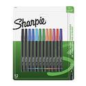 Sanford 1802226 Sharpie Pen, Fine Point, Assorted Colors, 12-Count