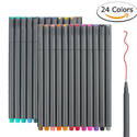 24 Fineliner Color Taotree Fine Line Colored Sketch Writing Drawing Pens
