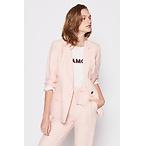 粉色西装外套