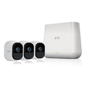 Arlo Pro by NETGEAR Security System with Siren 3 Rechargeable Wire-Free HD Cameras with Audio, Indoor/Outdoor, Night Vision