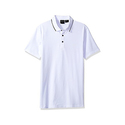 A|X Armani Exchange Men's AX Short Sleeve Jersey Knit Polo - White