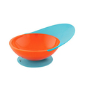 Boon Catch Bowl With Spill Catcher - Blue/Orange