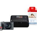 Canon Refurbished PowerShot SX730 HS Black & Selphy CP1200 Black Bundle