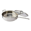 Cuisinart 733-30H Chef's Classic Stainless 5-1/2-Quart Saute Pan with Helper Handle and Cover