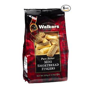 Walkers 苏格兰黄油饼干 125克*6包