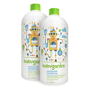 Babyganics Foaming Dish and Bottle Soap (Pack of 2)
