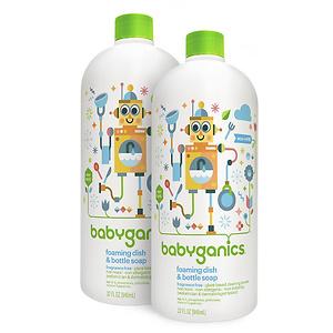 Babyganics Foaming Dish and Bottle Soap (Pack of 2)