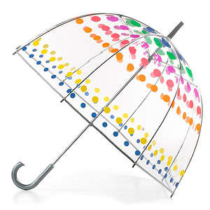 Totes Clear Bubble Umbrella, Dots