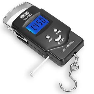 Dr.meter [Backlit LCD Display] PS01 110lb/50kg Electronic Balance Digital Fishing Postal Hanging Hook Scale