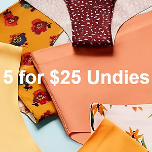 Urban Outfitters: 5 for $25 on Select Panties