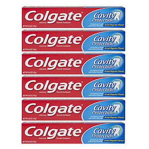 Colgate Cavity Protection Toothpaste with Fluoride - 6pk