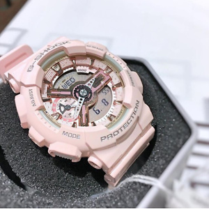 Casio G-Shock Gold and Pink Dial Pink Resin Quartz Ladies Watch