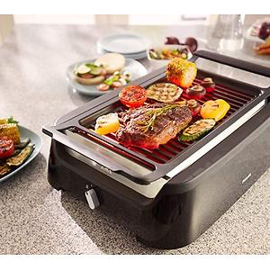 Philips Indoor Smoke-less Grill plus Bonus Cleaning Tool, HD6371/98